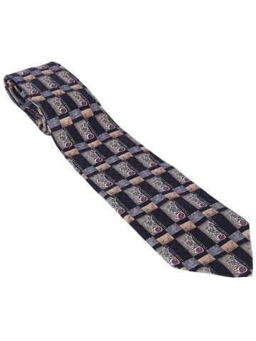 80s Silk Christian Dior Patterned Tie
