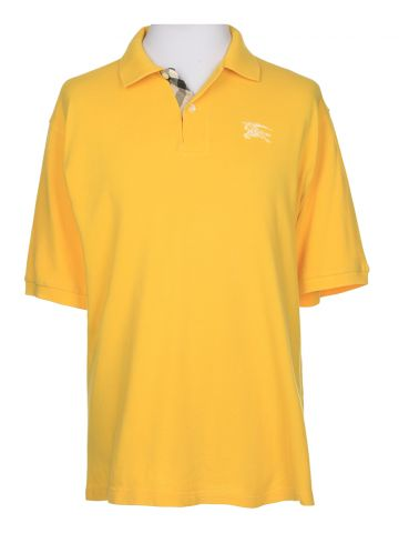 8c829946 Buy Burberry Yellow Short Sleeved Polo Shirt - L in San Jose online ...