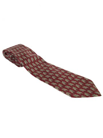 Gucci Red Silk Elephant Print Tie