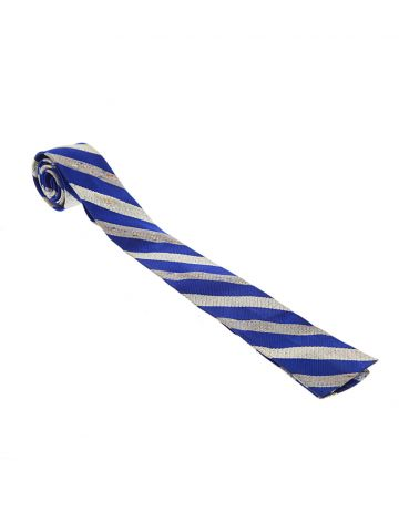Vintage 60s Wembley Blue and Silver Striped Mod Tie